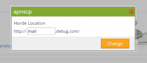 Confirmation dialog to change webmail URLs.