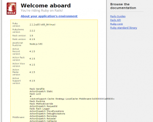 Sample install from Rails v4 using Ruby 2.2