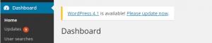 Logging into the WordPress administrative portal when updates are present