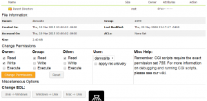File properties dialog